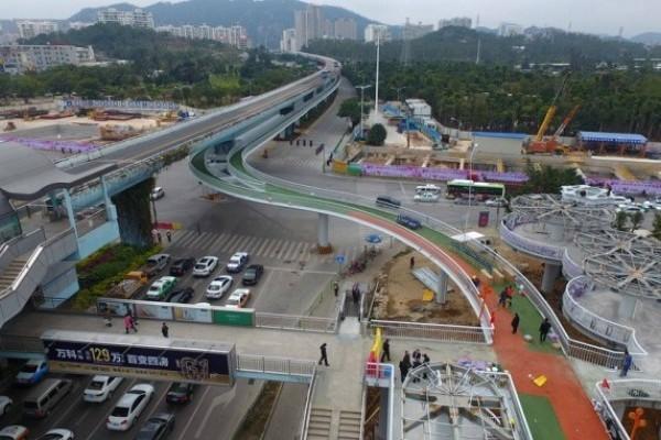 Tiongkok Miliki Jalur Sepeda Melayang Terpanjang