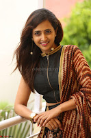 Lasya looks super cute in black choli Saree at Raja Meru Keka Press Meet ~  Exclusive 068.JPG