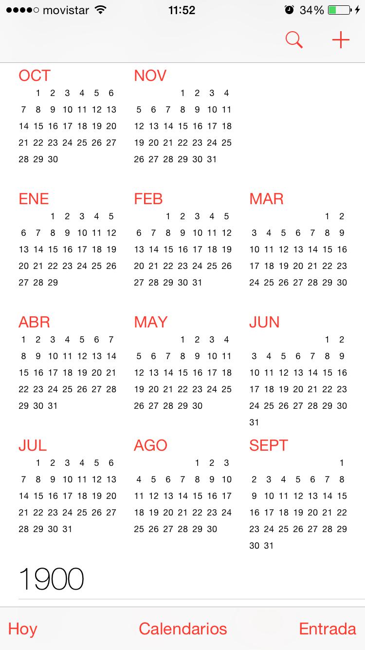 Calendario 1900.Seguridad Apple Un Fallo En El Calendario De Ios Antes