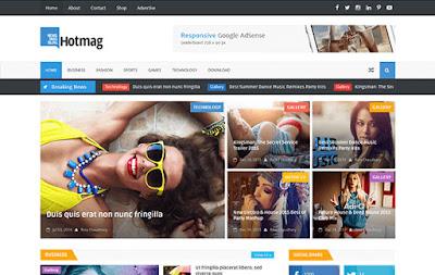 HotMag - скачать бесплатно шаблон для blogger blogspot