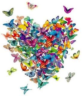 сердце из бабочек