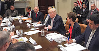 President Trump met yesterday at the White House with state and tribal leaders. (Credit:  Emily Holden/E&E News) Click to Enlarge.