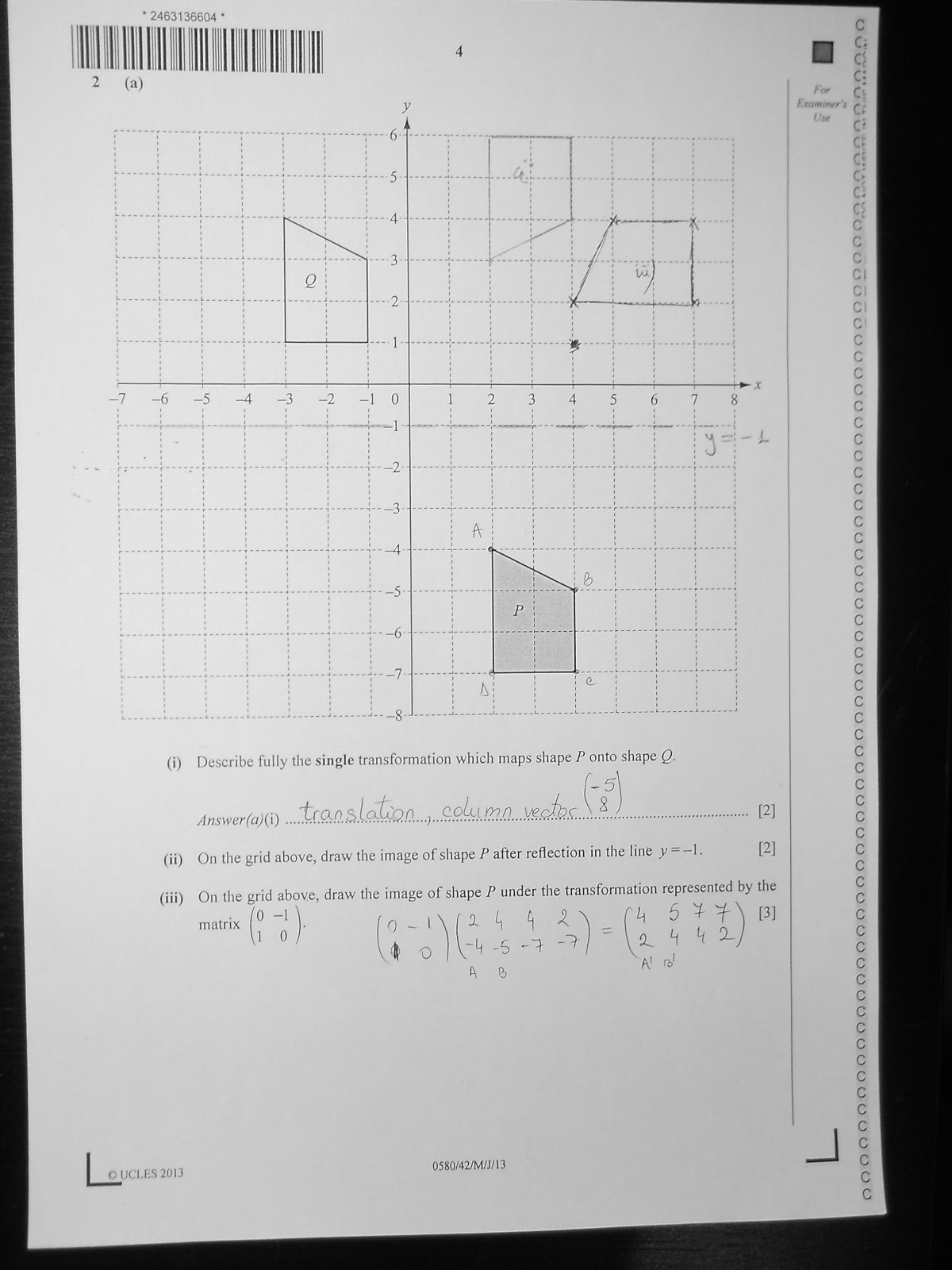 CIE IGCSE 0580 Mathematics Paper 4 (Extended), May/June 2013