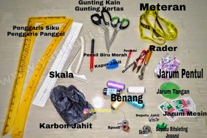 Peralatan dasar menjahit wajib dibeli oleh penjahit pemula atau otodidak