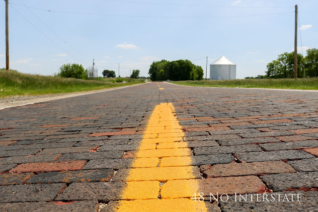 48 No Interstate back roads cross country coast-to-coast road trip Route 66 Illinois brick road
