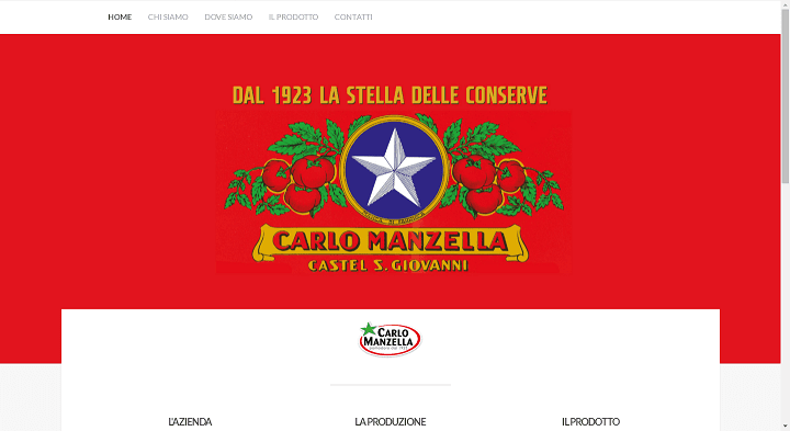 Picture to Italian food exporter company named Carlo Manzella