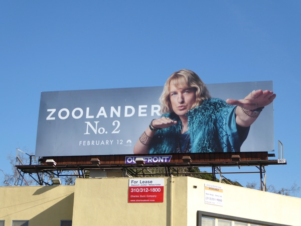 Owen Wilson Zoolander 2 Hansel billboard