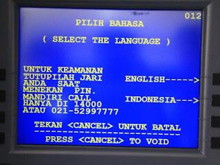 Cara Mengambil Uang Di ATM Mandiri Terbaru