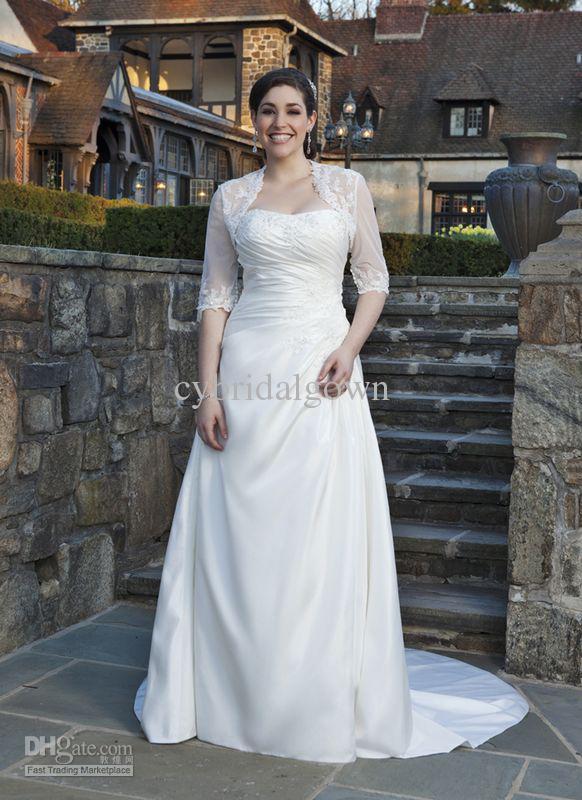 Plus Size Wedding Dresses Sleeves Jackets | prom fashion trend