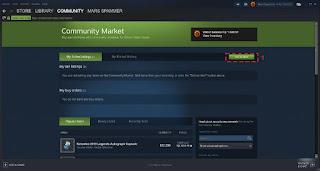 Cara Menjual Item Game di Steam Market