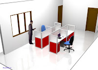 Knockdown Office Cubicle Workstation Table