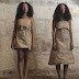 Beyoncé's younger sister Solange wearing cardboard paper dress
