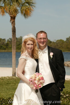 couple at Disney's Wedding Pavilion, Disney Fairytale Weddings, Growing Up Disney