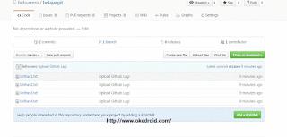 project sukses tersimpan atau terupload di Github