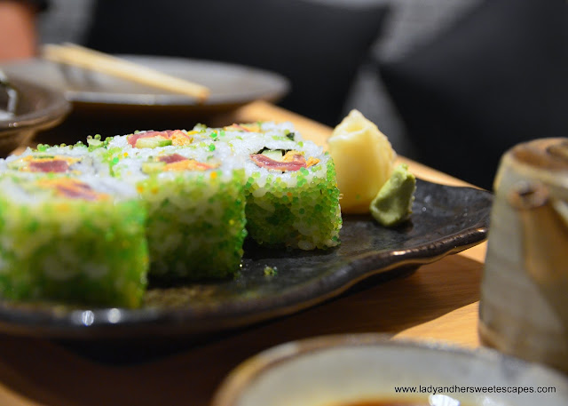 Sushi Roll in Miyako restaurant Dubai