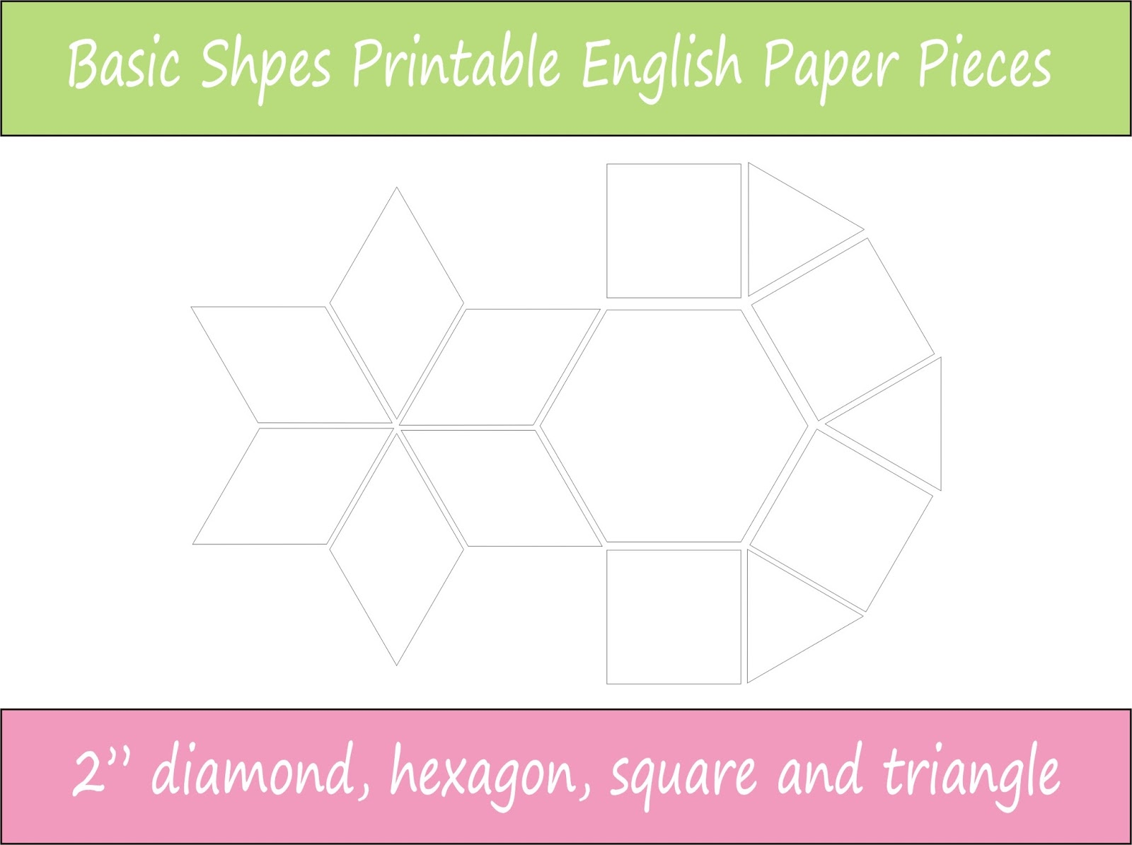 Vicki Sews Introducing My Downloadable Epp Basic Shapes Pack