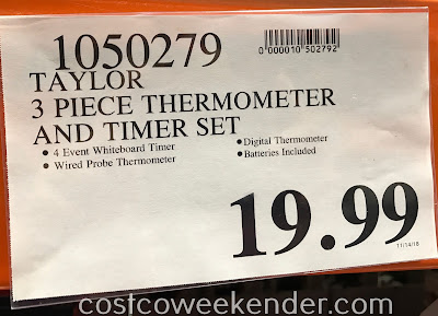 Deal for the Taylor 3-piece Thermometer & Timer Set at Costco