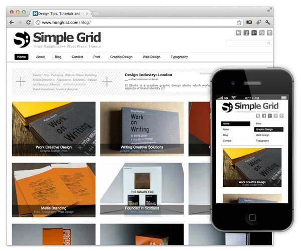 Simplegrid wordpress theme