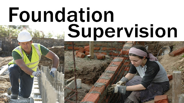 Building foundation supervision and their tips