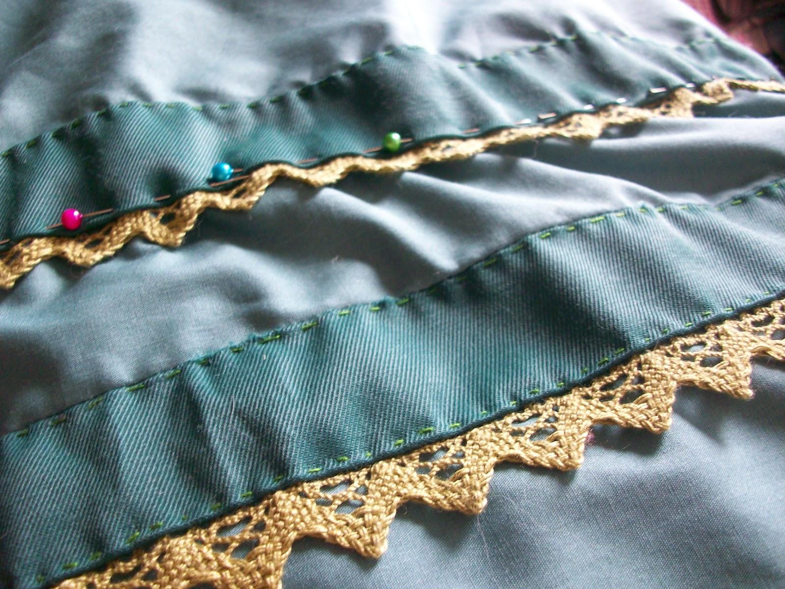 636c821f Det ble veldig enkelt, så jeg sydde pynt av samme stoff jeg skulle lage  bolero av, og hadde på blonder i front. Blondene skulle på boleroen, ...