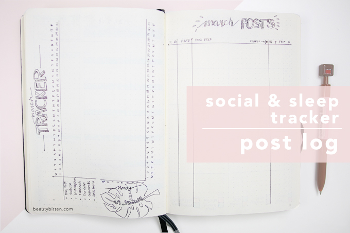 social tracker, sleep tracker, blog post log