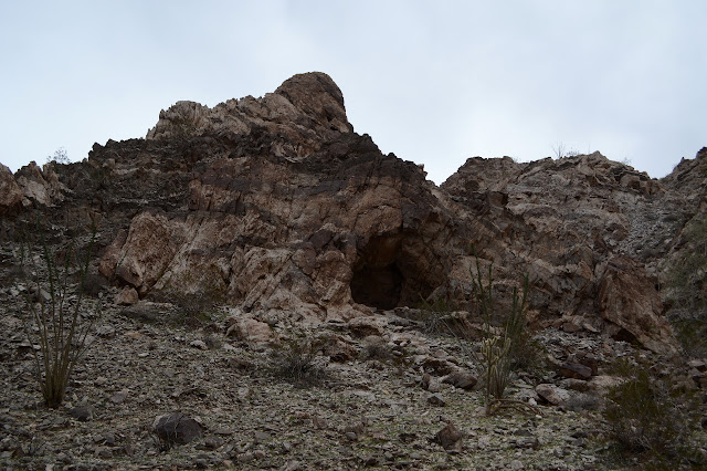 prospect in a rock