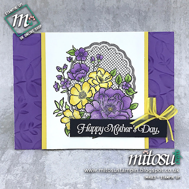 Lovely Lattice Stampin' Up! Mother's Day Card Idea. Order cardmaking products from Mitosu Crafts UK Online Shop