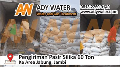 pengiriman pasir silika 60 ton