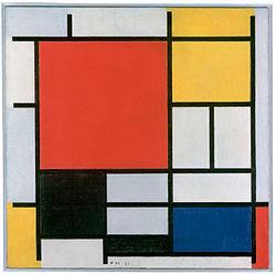 Piet Mondrian - Composition en rouge, jaune, bleu et noir, 1926.