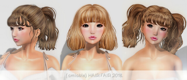 {amiable} New Hairs @ HAIR FAIR 2018.