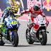 Rossi : Dovisioso Lebih Menyulitkan Daripada Marquez
