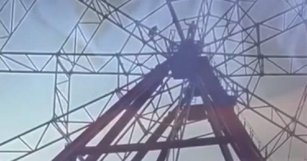 Ρωσία: Τρομακτική πτώση μεθυσμένου νεαρού από ύψος 50 μέτρων σε ρόδα λούνα παρκ εν ώρα... selfie! (βίντεο)