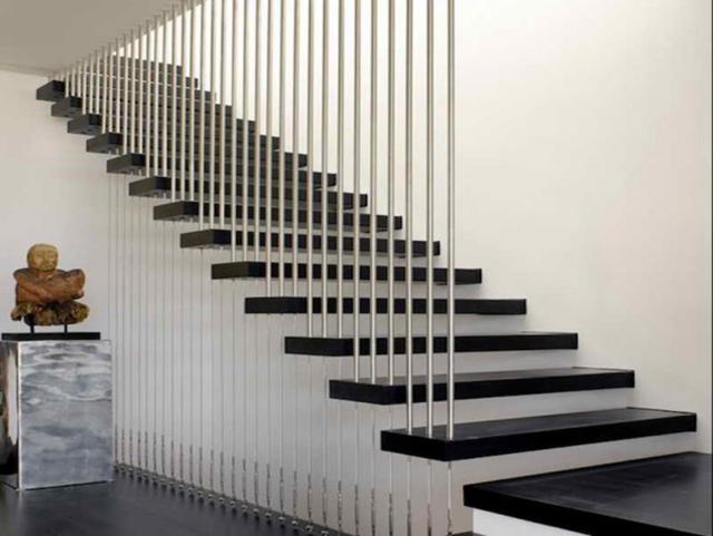 cầu thang đá hoa cương đen đẹp 2