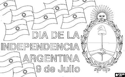 colorear 9 de julio  independencia argentina