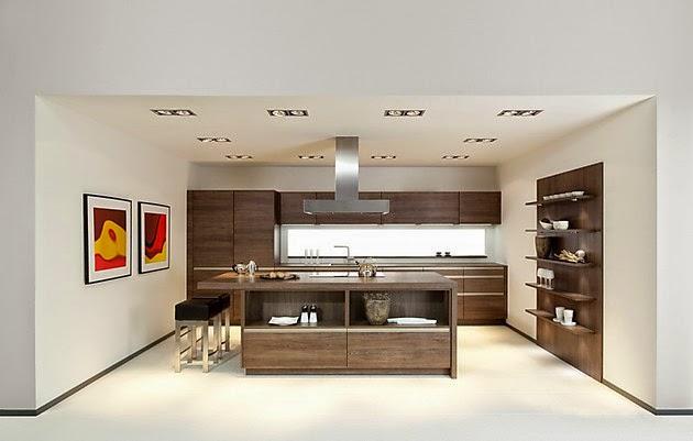 moderna cocina tonos neutros