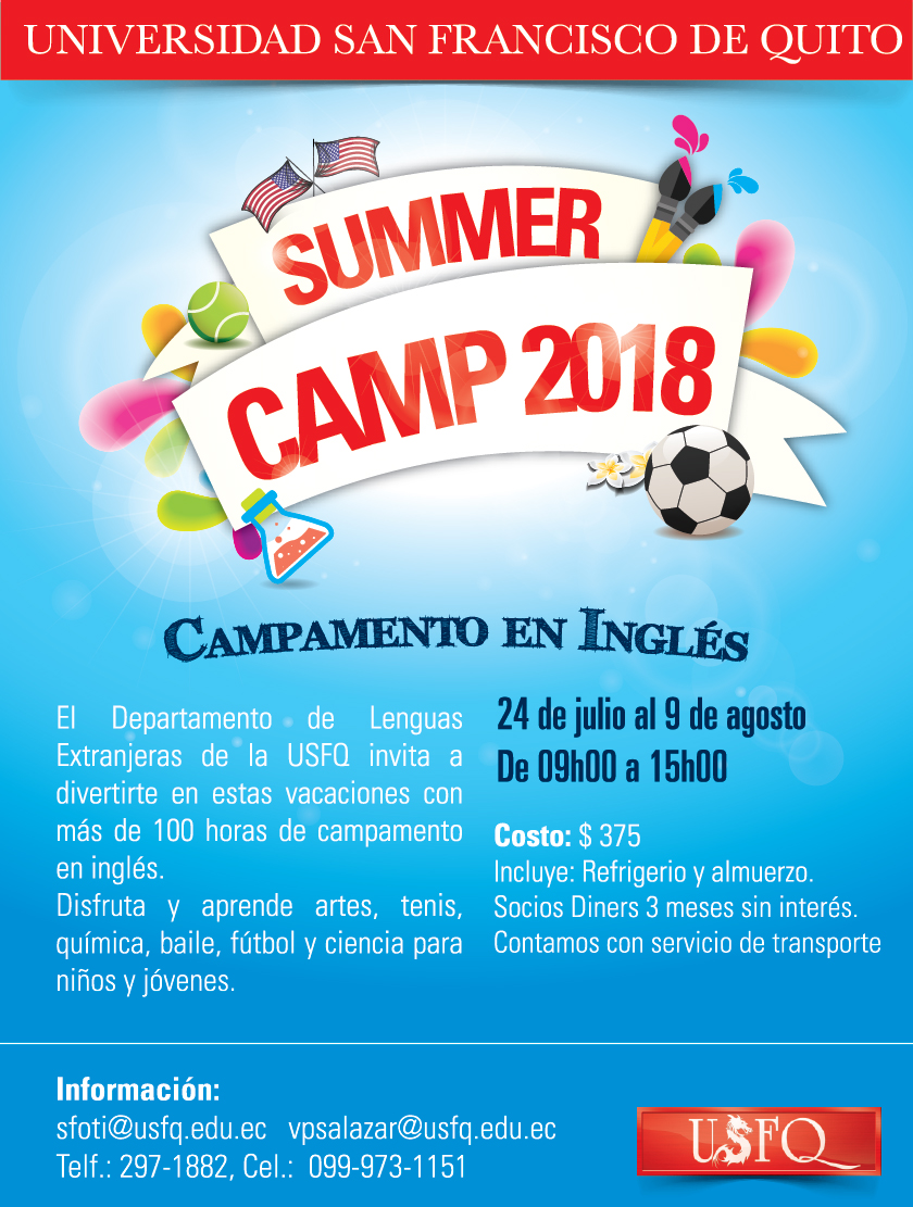 Aprender Ingles En Tres Meses Summer Camp Usfq 2018 Noticias Usfq