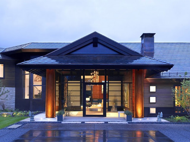 Entrance of Aspen Residence by Stonefox