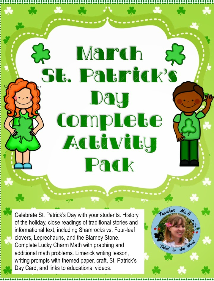 St Patricks Day Complete Activity Pack for March