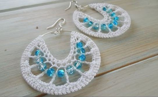 2 Pretty Crochet Wire Hoop Earrings Tutorials