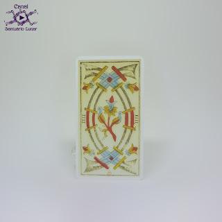 Tarot de Marseille (Heron) - 3 of Swords