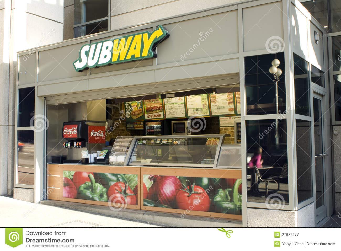 Subway Restaurant Downtown Seattle