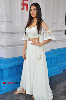 Telugu Actress Amyra Dastur Stills in White Skirt and Blouse at Anandi Indira Production LLP Production no 1 Opening  0014.JPG