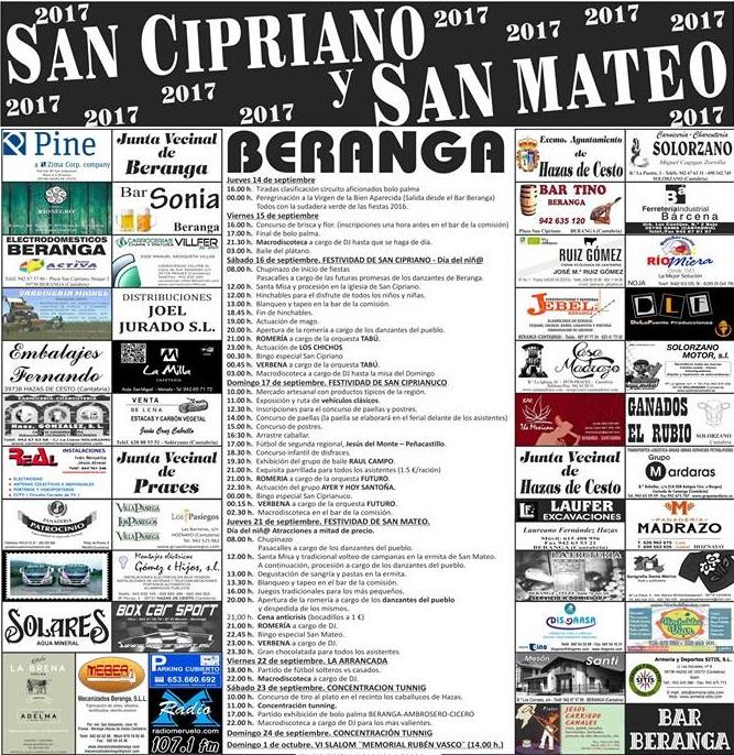 Fiestas de San Cipriano y San Mateo en Beranga 2017