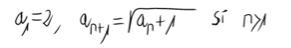 15. Límite de una sucesión definida por recurrencia