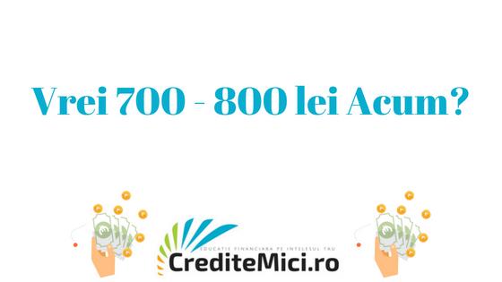 Credit 500 lei sau 600 lei imprumut rapid online