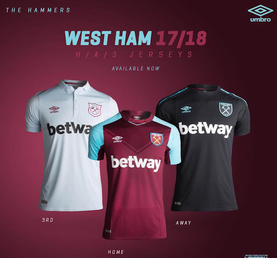 9b3644f86 West Ham United 17-18 Third Kit Leaked - Footy Headlines