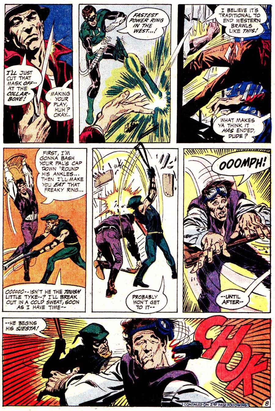 Green Lantern Green Arrow #78 dc comic book page art by Neal Adams