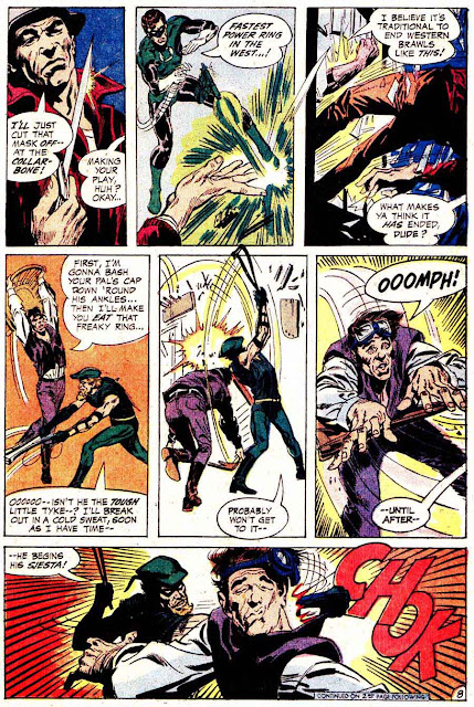 Green Lantern Green Arrow #78 dc comic book page art by Neal Adams