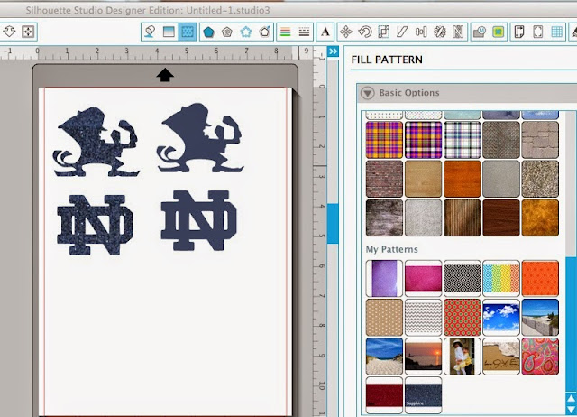 Mock-ups, mock ups, Silhouette Studio, designing, creating, layout, fill pattern