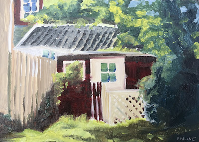 Sandhamn house, painted in the Stockholm archipelago by Philine van der Vegte